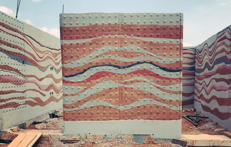Colors Of the Earth: Ghana's Incredible, Rammed Earth Walls, Courtesy of Hive Earth