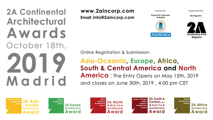 Open Call : 2A Continental Architectural Awards 2019, 2ACAA 2019