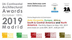 Open Call : 2A Continental Architectural Awards 2019