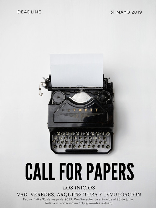 VAD o1. Call for papers: los inicios