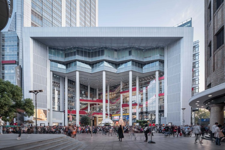 Shanghai Shimao Festival City Renovation / Kokaistudios, front elevation. Image © Qingshan Wu