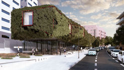 3GATTI Proposes 'Green Spaceship' for Madrid Library