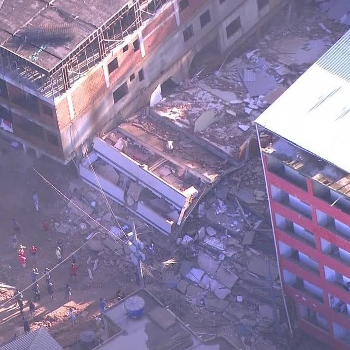 Dois edifícios desabam da zona oeste do Rio de Janeiro, Imagem: Reprodução/TV Globo