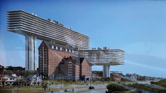 Sigue la polémica por el proyecto de Rafael Viñoly para el Hotel San Rafael, via <a href='https://www.facebook.com/BastadedemolerMvd/?tn-str=k*F'>Basta de Demoler Montevideo</a>
