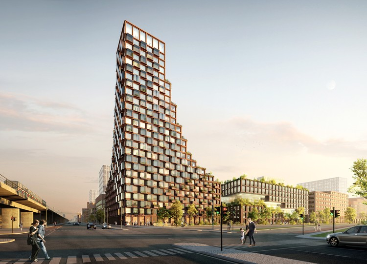 Third Nature and Lendager Group Design Upcycled High-Rise for Copenhagen, CPH Common House. Image Courtesy of THIRD NATURE