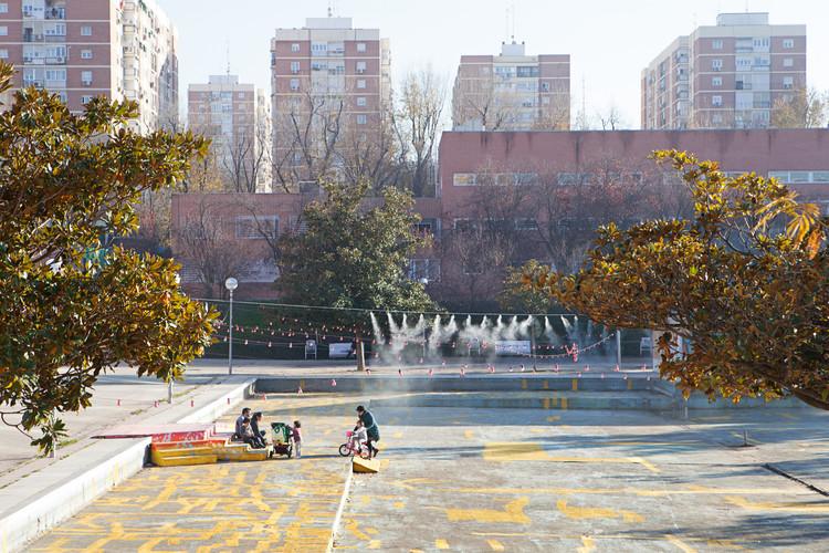 Los Descensos: acciones extraordinarias en Plaza de la Vaguada para 'Imagina Madrid', © Asier Rua