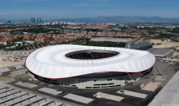 Estadio de fútbol 'Wanda Metropolitano' del Club Atlético de Madrid / Cruz y Ortiz Arquitectos, © FCC