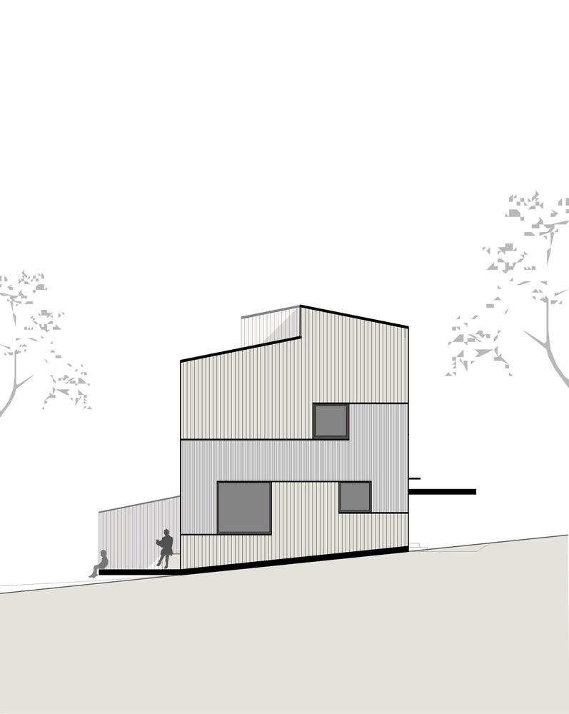 Gallery of Semi Detached House on a Hillside / MWArchitekten - 13