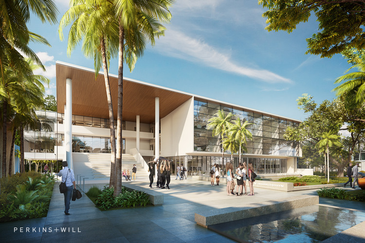 Perkins+Will Designs Flexible STEM School with Movable Walls in Miami, © Perkins+Will