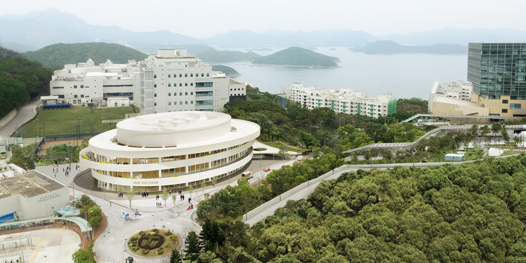 Henning Larsen Designs Elliptical Auditorium for Hong Kong University of Science and Technology, Shaw Auditorium. Image Courtesy of Henning Larsen