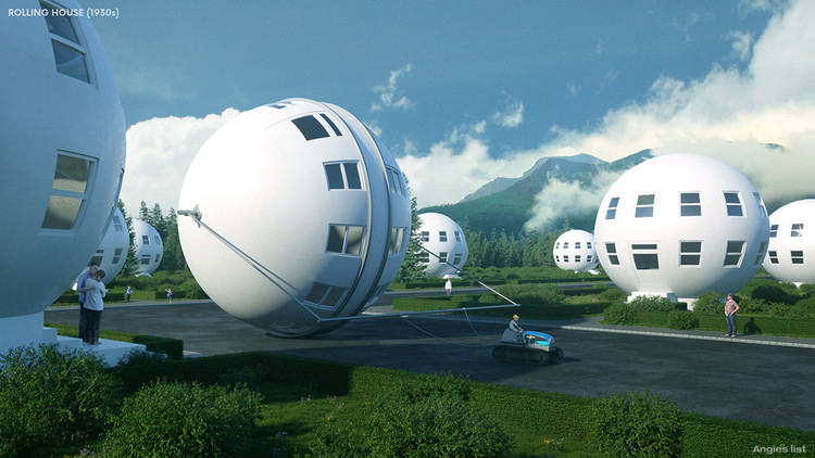 7 Houses of the Future - According to the Past, Rolling Houses (1930s). Image © Angie's List