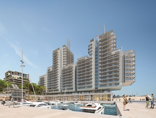 "Renzo Piano Designs ""Floating"" Seaside Residences for Monaco's New Eco-District"
