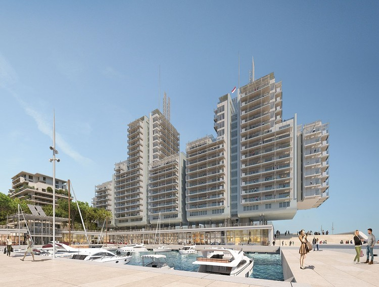 "Renzo Piano Designs ""Floating"" Seaside Residences for Monaco's New Eco-District, Portier Cove. Image Courtesy of Renzo Piano Building Workshop"