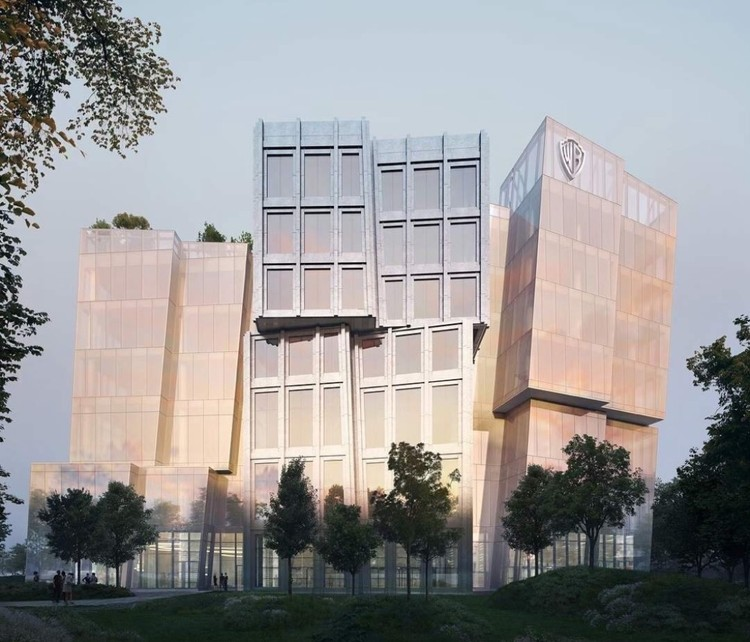 """Gehry Designs """"Floating Icebergs"""" for Warner Bros. in Los Angeles, Warner Bros. Headquarters. Image Courtesy of Gehry Partners"""