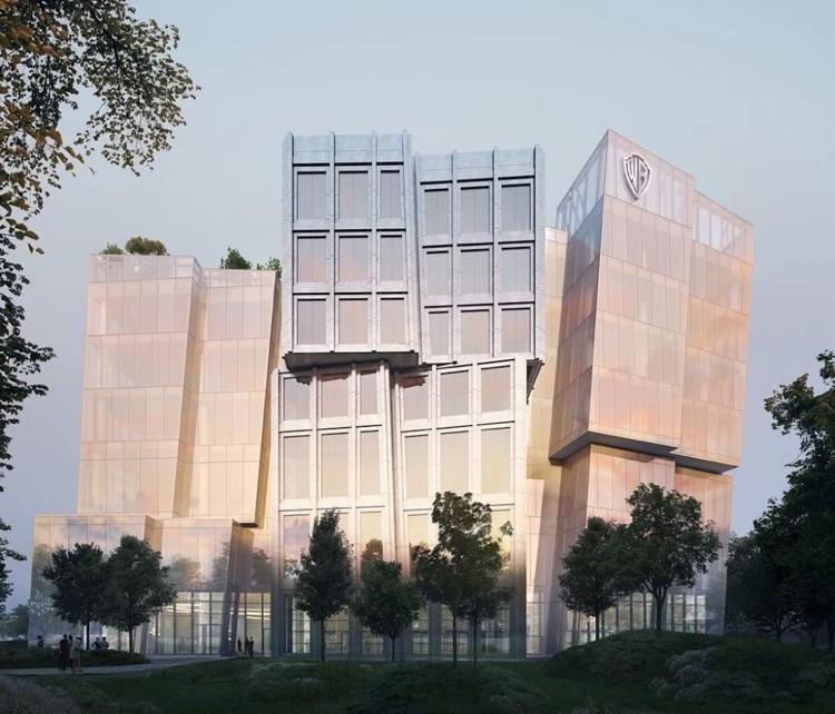 "Frank Gehry projeta ""iceberg flutuante"" para a Warner Bros. em Los Angeles, Sede da Warner Bros.. Cortesia de Gehry Partners"
