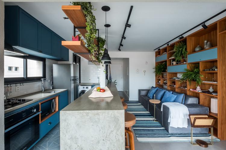 Apartamento AK / Rua 141 + ZALC Arquitetura, © Nathalie Artaxo
