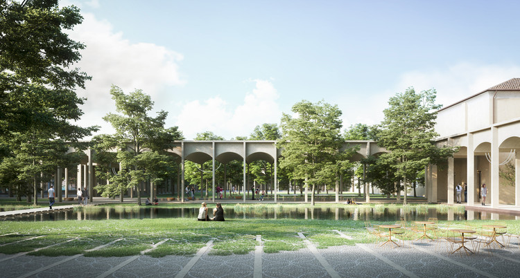 Bak Gordon propõe campus para a Universidade de Padova inspirado em pórticos e aquedutos, Piave Futura. Image © Stefano Farina. Cortesia de Bak Gordon Arquitectos