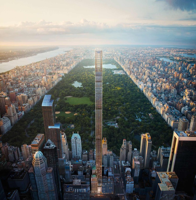 SHoP Architects' 111 West 57th Street Celebrates Topping Out near Central Park