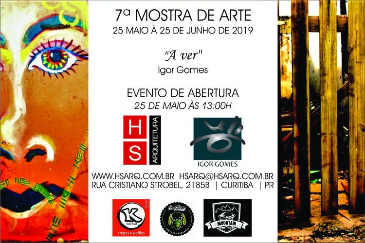 7ª Mostra de Arte da HS Arquitetura, Convite - HS Arquitetura