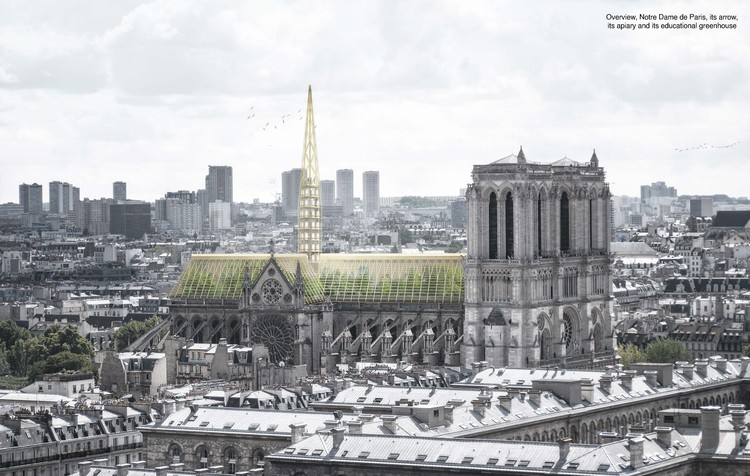 Studio NAB Designs a Greenhouse Roof for Notre-Dame, © Studio NAB