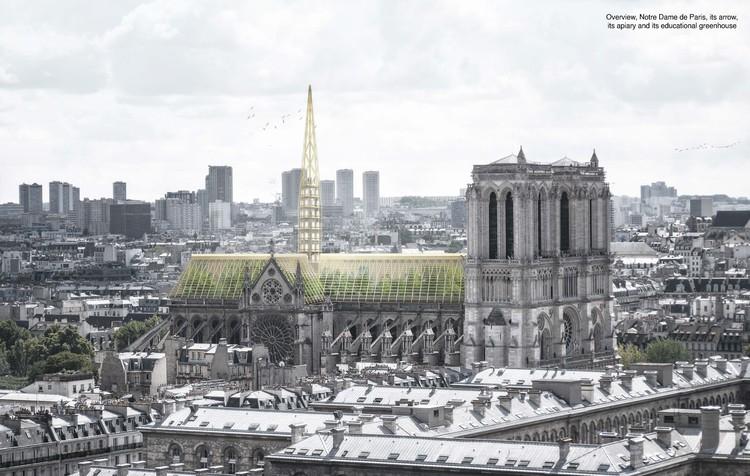 Studio NAB projeta estufa de vidro para a cobertura da Notre-Dame, © Studio NAB