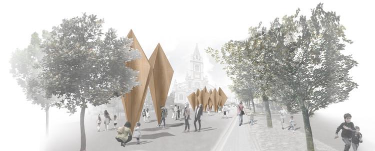 Propuesta Ganadora para el Pabellón Concéntrico en Rouen: FÔRET, llevar el bosque a la ciudad., Vista 1