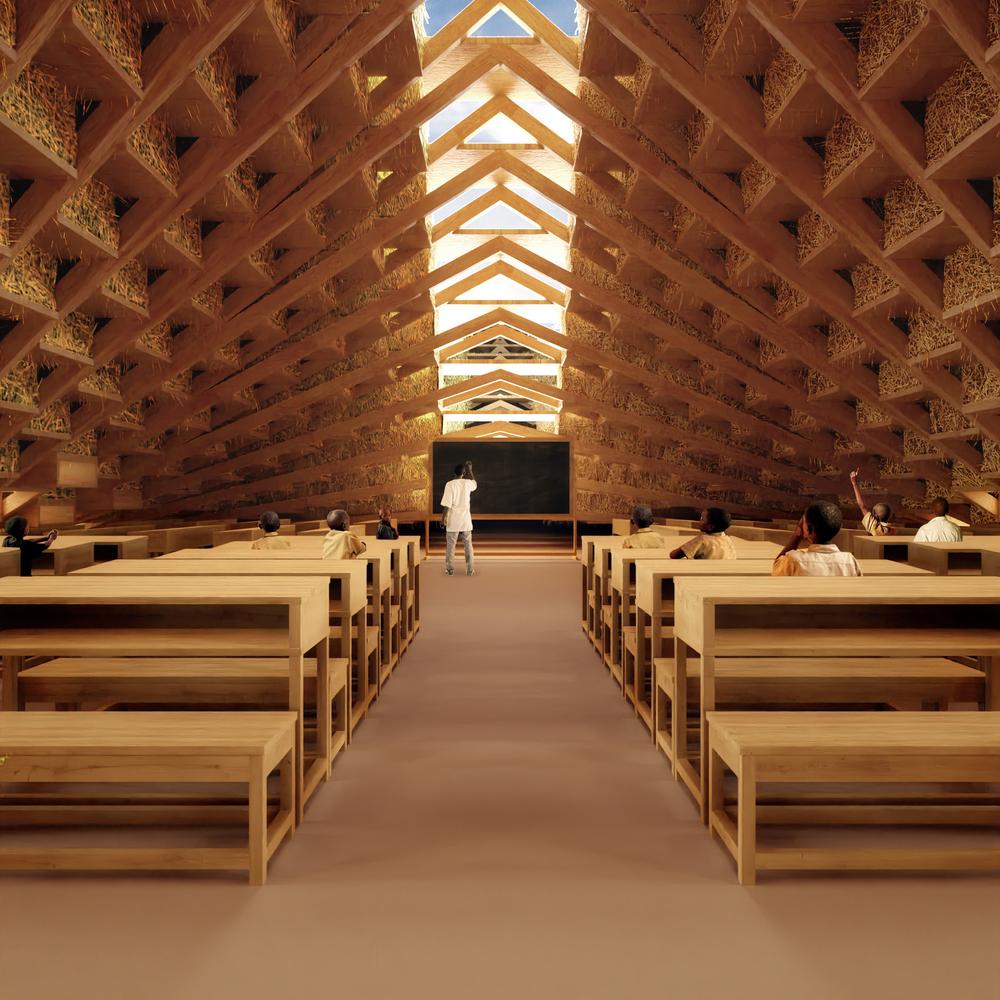 В основе конструкции - деревянный ступенчатый каркас