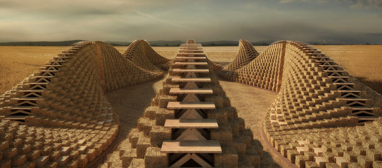 NUDES designs School in Malawi made from Straw Bales, © NUDES