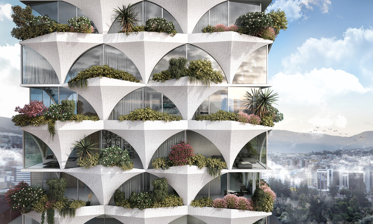 ODD Architects Creates Sunflower-Inspired Residential Tower for Ecuador, Sunflower Tower. Image Courtesy of odD+ Architects, Julia Bogdan