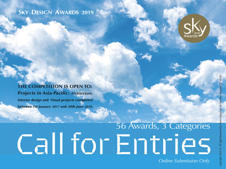 Call for Submissions: Sky Design Awards 2019, Sky Design Awards 2019
