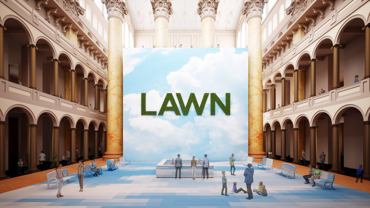 "Rockwell Group's ""Lawn"" to Open at the National Building Museum this Summer, Lawn. Image Courtesy of National Building Museum"