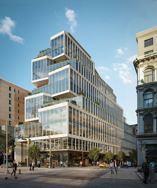 Perkins+Will Designs Manhattan Office Building Sculpted by Setback Restrictions, © Perkins+Will