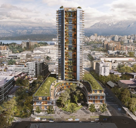 Canada Earth Tower. Image Courtesy of Perkins + Will / Delta Land Development