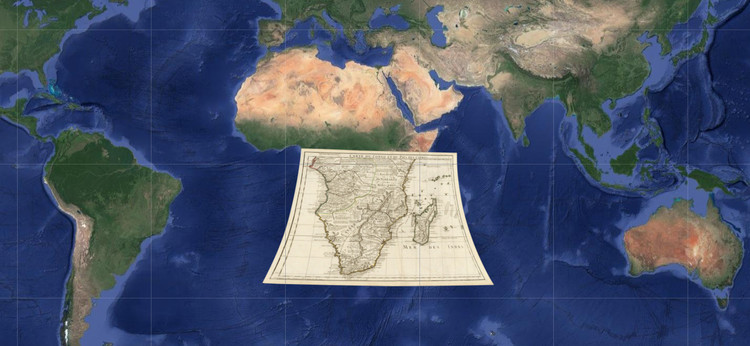 120 Ancient Maps Overlapped on Google Earth Reveal the Growth of