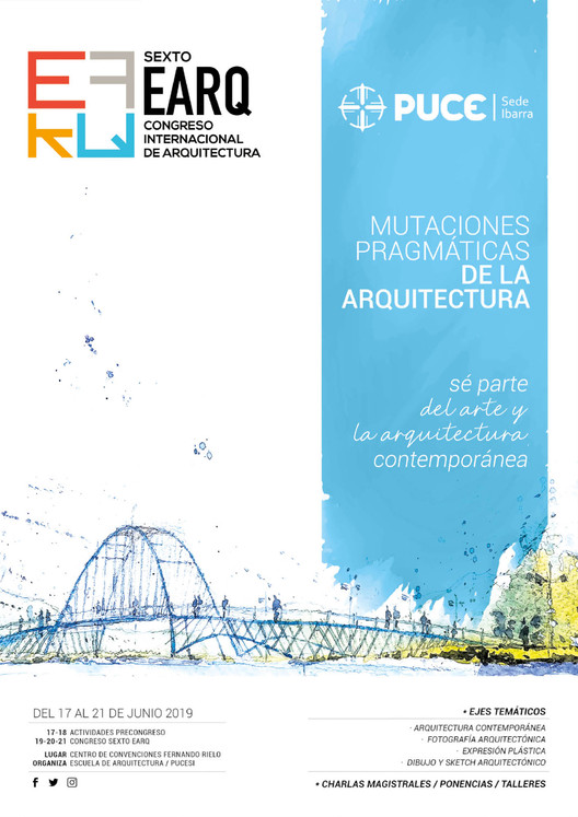 """VI EARQ 2019: Congreso Internacional """"Mutaciones Pragmáticas de la Arquitectura"""", vía VI EARQ 2019"""