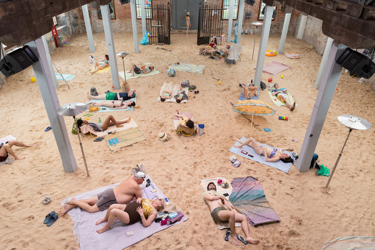 7 Must-See Pavilions at the 2019 Venice Biennale, Installation view of Sun & Sea (Marina), at the Lithuanian pavilion at the 58th International Art Exhibition – la Biennale di Venezia, 2019.  © Andrej Vasilenko