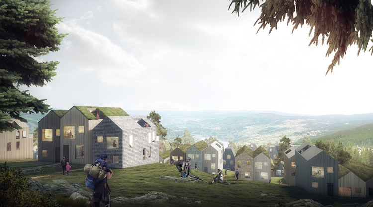 Reiulf Ramstad Arkitekter Designs Vernacular Norwegian Mountain Village