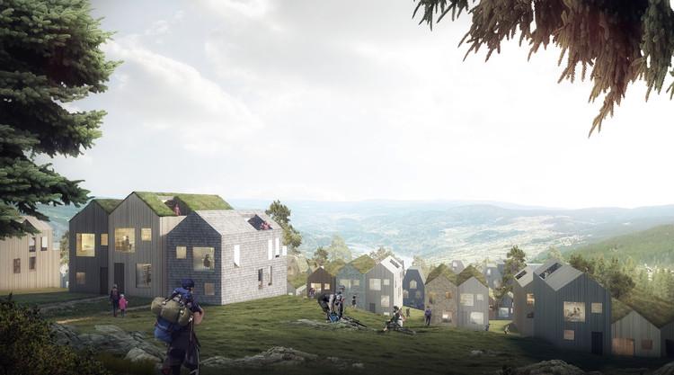 Reiulf Ramstad Arkitekter Designs Vernacular Norwegian Mountain Village, © Reiulf Ramstad Arkitekter