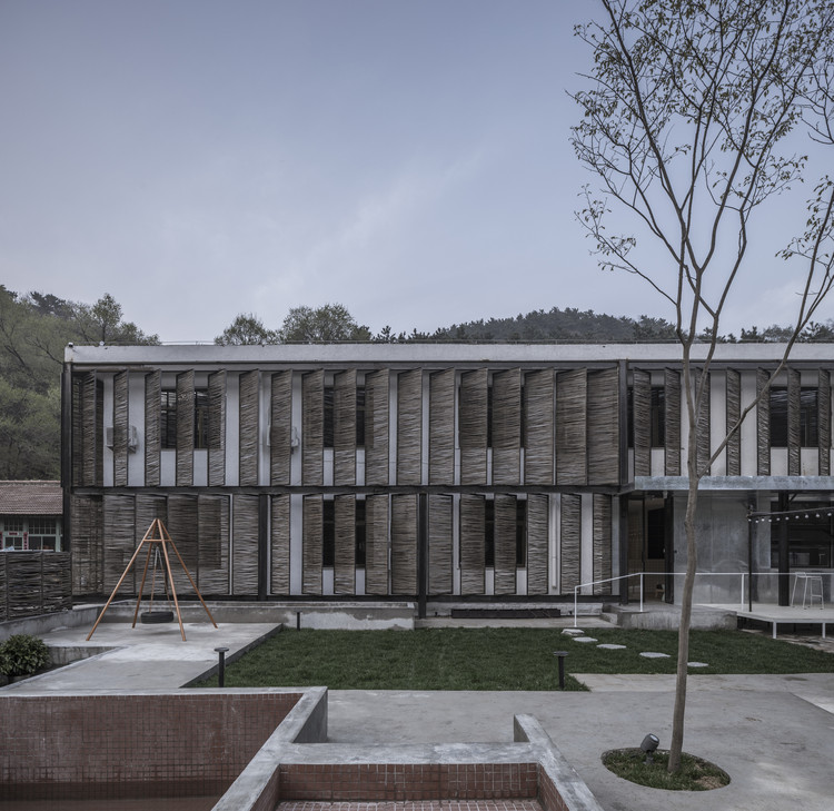 Xiaoye Valley / AML Design Studio, Exterior facade and courtyard. Image © Weiqi Jin