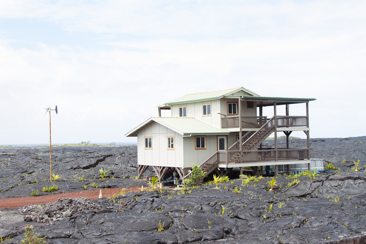 "The Impact of the ""Happiness Industry"" on Architecture , ""Lava dwellers"" in Kalapana State Wayside Park on the island of Hawaii. Image © John Sanphillippo"