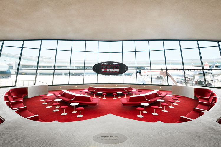 JFK's Iconic TWA Terminal Reopens as Vintage Hotel by Beyer Blinder Belle, © TWA Hotel/David Mitchell