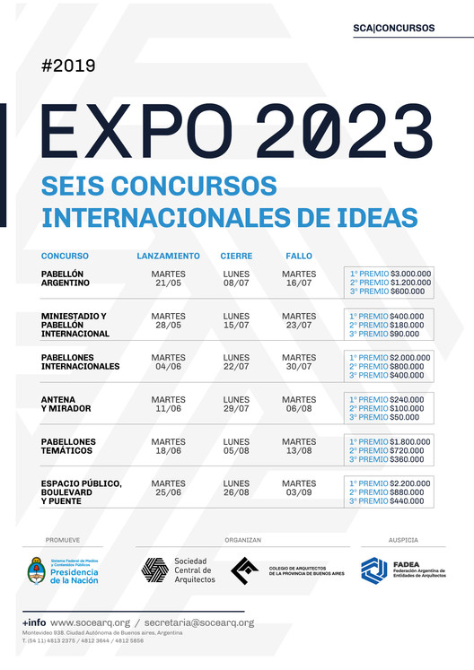 Seis concursos internacionales de ideas para Expo 2023 Buenos Aires, Cortesía de Organizadores