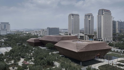 from near to far are museum,  planning exhibition hall and archive . Image © Bowen Hou