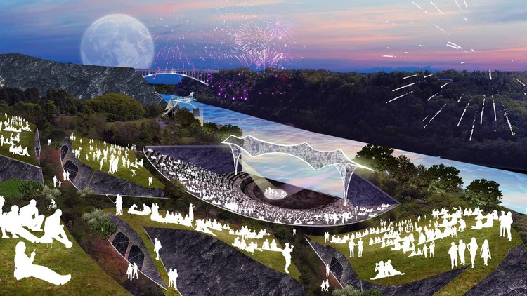 SO-IL and West 8 Design Artpark for New York's Niagara Gorge, Courtesy of SO-IL & West 8