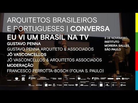 """""""Eu vi um Brasil na TV"""" com Jô Vasconcellos, Gustavo Penna e Francesco Perrotta-Bosch"""