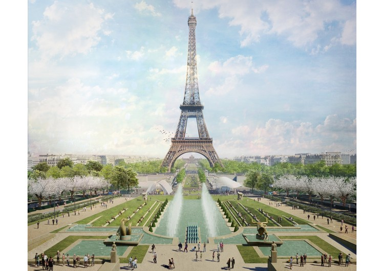Gustafson Porter + Bowman Wins Competition to Redesign Eiffel Tower Site, © Gustafson Porter + Bowman