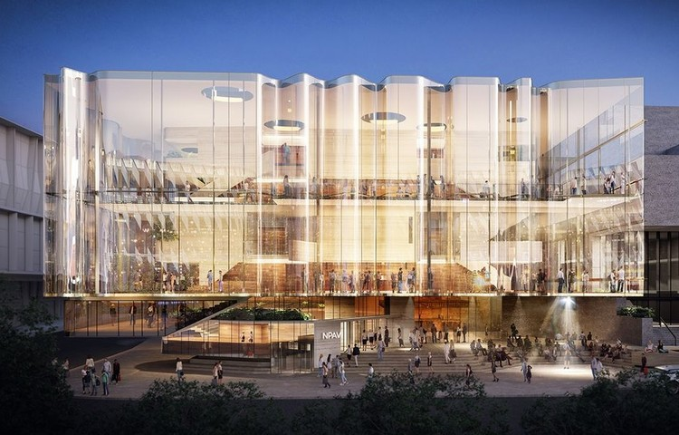 Snøhetta and Blight Rayner Design New Theater to Create Australia's Largest Performing Arts Center