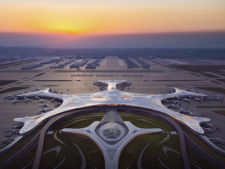 MAD Designs a Snowflake-Inspired Terminal for Harbin Taiping International Airport, © MAD Architects