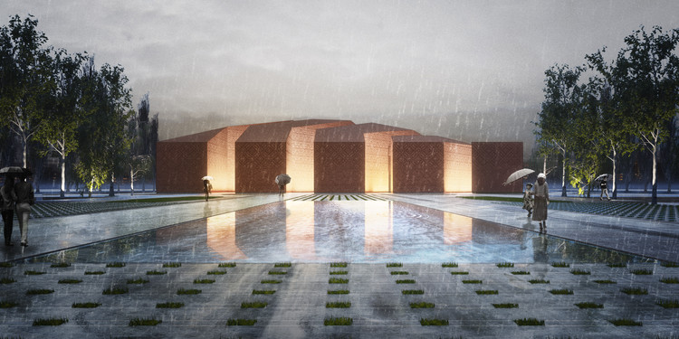 Fundamental Approach Architects Win First Prize for Unconventional Mosque and Plaza Design, © Fundamental Approach Architects / FAA