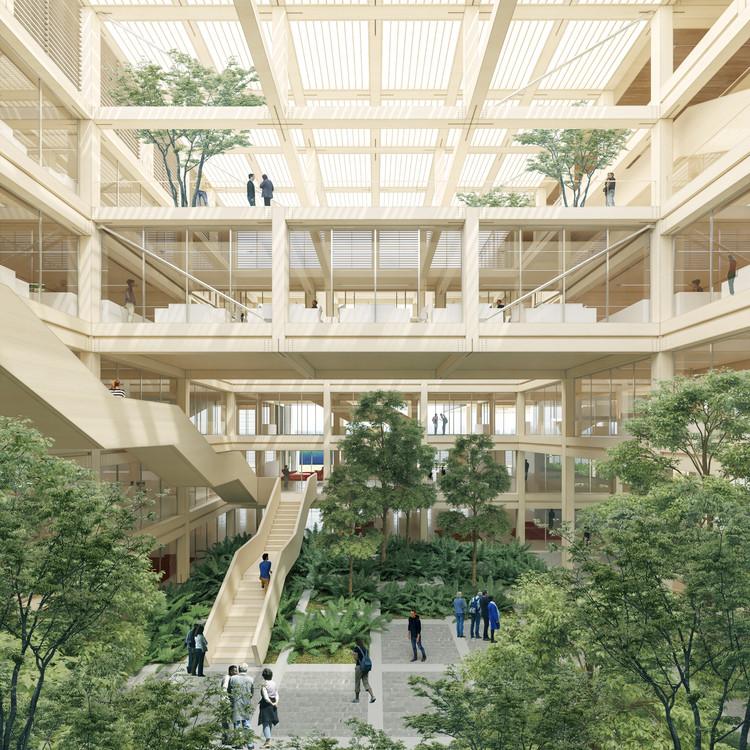 Propuestas del concurso de arquitectura para el nuevo edificio corporativo de Arauco en Concepción, Chile, Propuesta de Undurraga Devés. Image Cortesía de Arauco